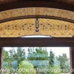 Salt lake city stained glass transom